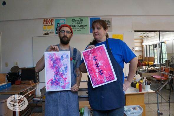 Printing with Teacher Sis.