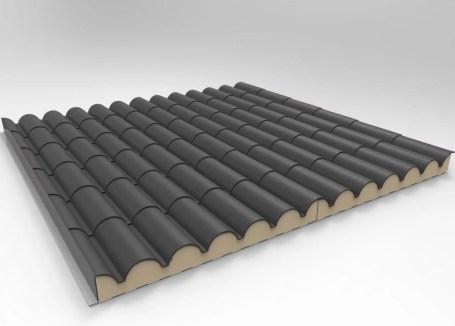 Schiefergrau Dachziegel Sandwichplatten