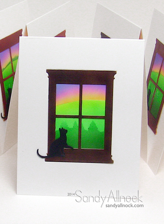 Sandy Allnock - Kitty Window Cards