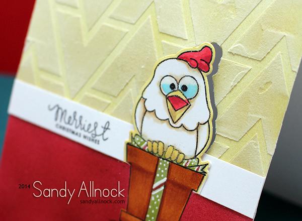 Sandy Allnock Chicken in a pot - 10 card making techniques, 1 layer