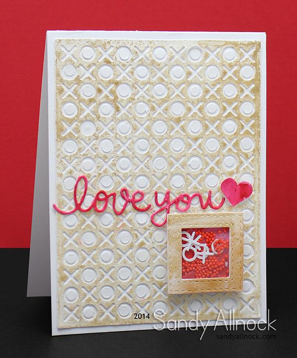 Sandy Allnock - Gold Spray Shaker Valentine3
