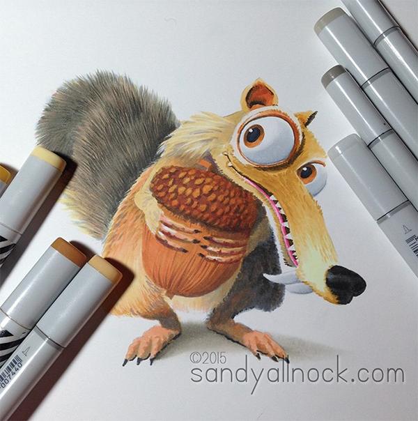 Sandy Allnock - Drawing Scrat2