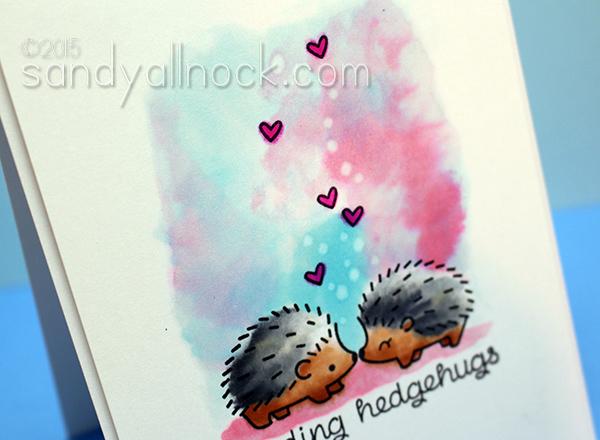 Sandy Allnock Hedgehugs Copic Watercolor2