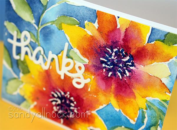 Sandy Allnock Watercolor Flowers 4a
