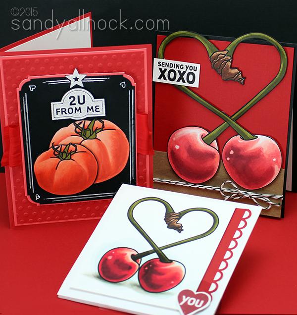 Sandy Allnock - Red EduDigi samples red cherries and tomatoes