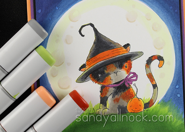 Sandy Allnock - Moon Light Copic Kitty