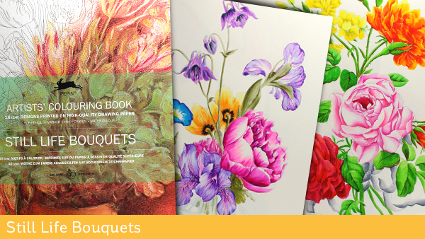 Artist Coloring Books Still Life Bouquets