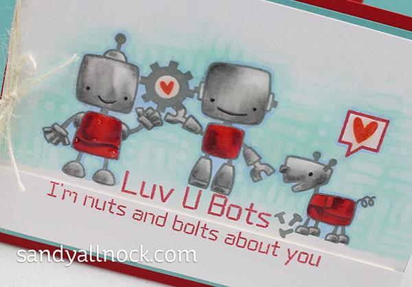 Sandy Allnock Boom Bots Valentines closeup