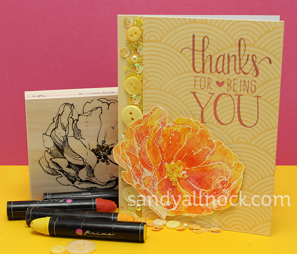Sandy Allnock flower card