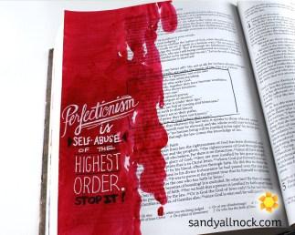 Sandy Allnock Bible Journal Christ is Perfect