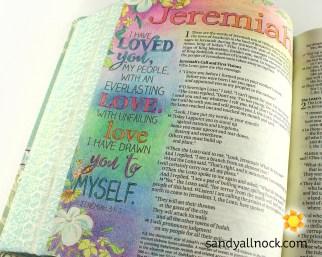 Sandy Allnock Bible Journal Loved You