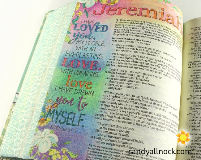 Sandy Allnock Bible Journal Loved You