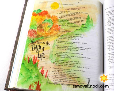 Sandy Allnock Bible Journal Path of Life
