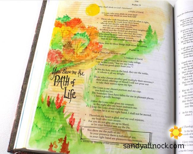 Sandy Allnock Bible Journal Path of Life