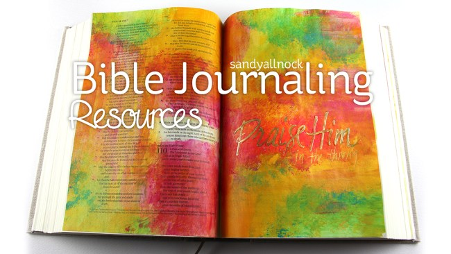 Sandy Allnock Bible Journaling Resources