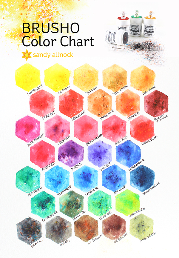 Sandy Allnock brusho color chart