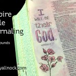 Inspire Bible Journaling, simple backgrounds