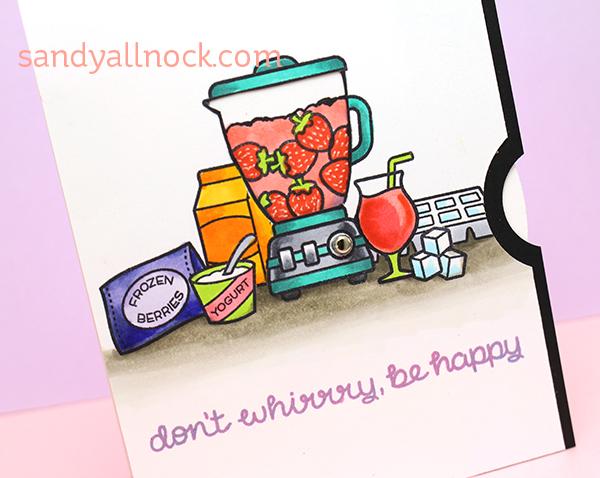 Sandy Allnock Choose Strawberry Spinning Wheel Card