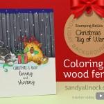 Christmas Tug of War: Coloring a Wood Fence