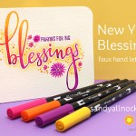 New Year Blessings: Faux Hand Lettering