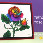 Rainbow Rose in Copic Marker