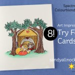 8 Tryfold Cards – and Spectrum Noir Colourblend Pencils