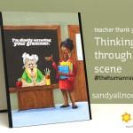 Thinking through a scene: teacher thank you card