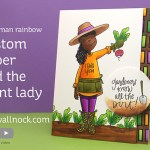 Custom Patterned Paper + Plant Lady #thehumanrainbow