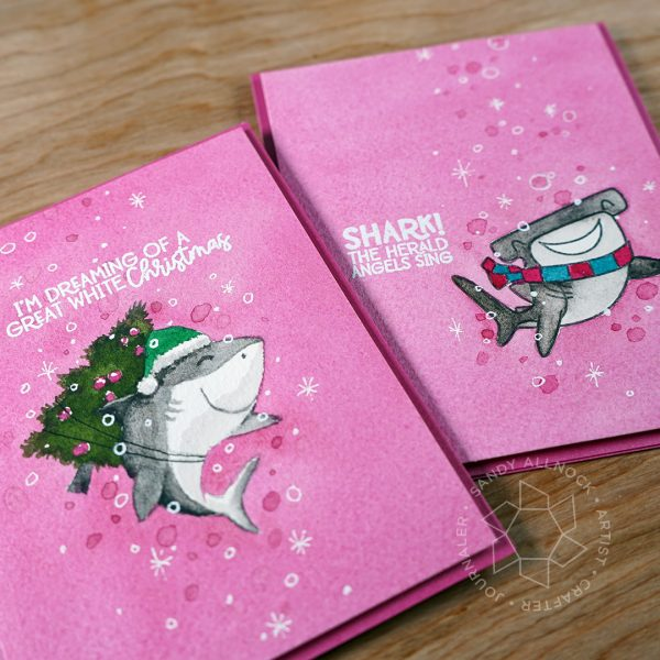 Sandy Allnock Feminine Shark Christmas Card 1