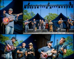 Banjo Picking Contest winner Patrick George plays on stage with Elephant Revival