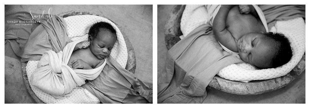 photo bébé dans contenant rond