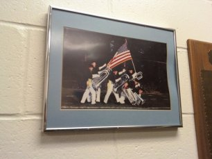 A funny picture that was in my warmup room for the semis and finals.