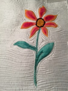 watercolor flower on silk