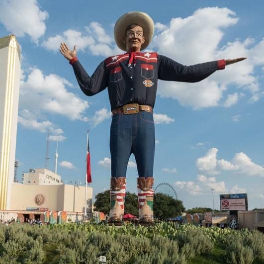 big tex at the texas state fair by sandy hibbard lensqueen