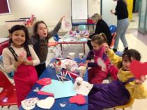 Crafty girls take over the art room as Carnival opens