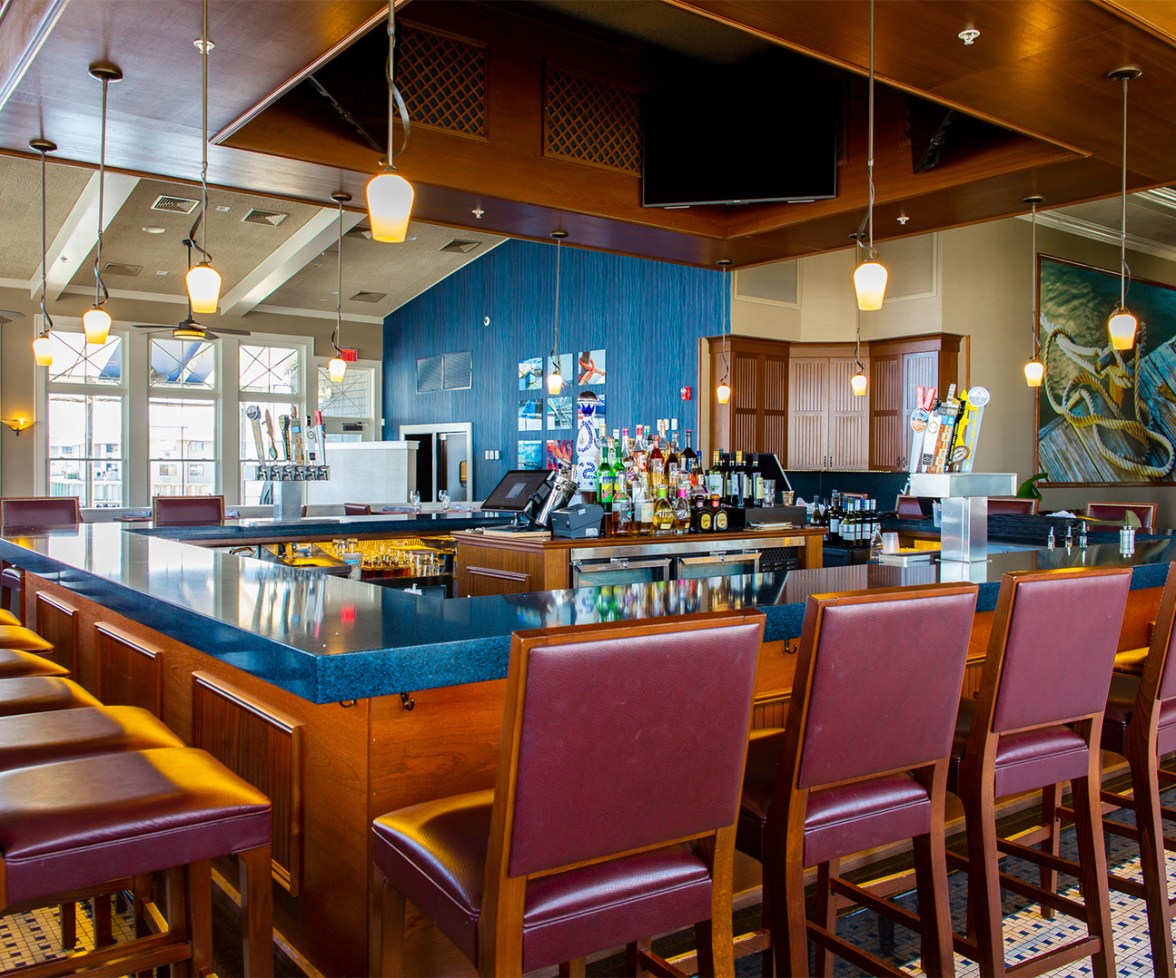 The bar at Trama's at One Willow