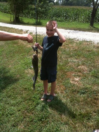Jack with his huge catfish