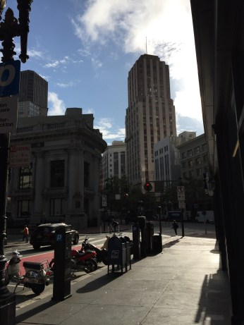 Walking through the streets in San Francisco