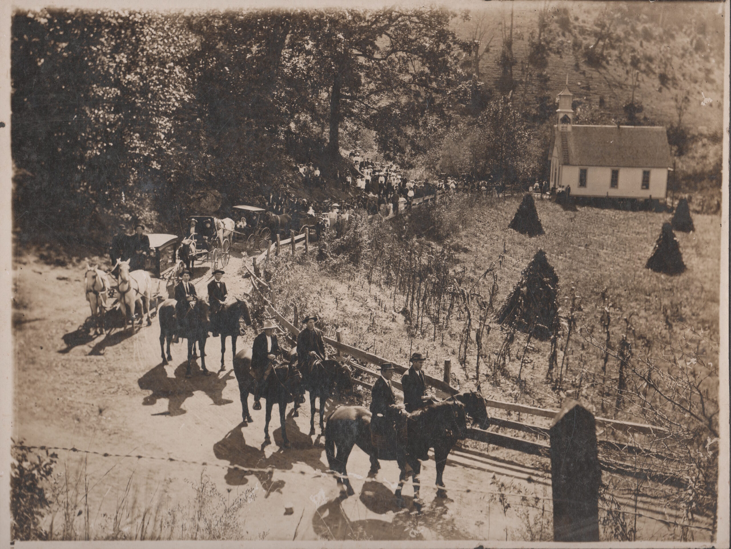 Sandy Mush History:  1907 Woody Funeral at Jones Valley Baptist Church