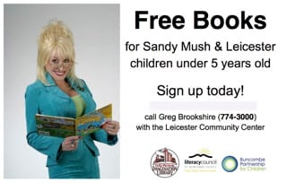 Reminder Dolly Parton Imagination Library Sign Up in September