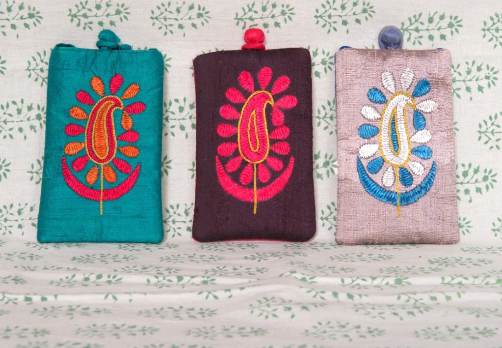 Three Oriental Designed Purses
