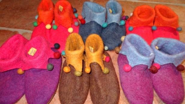 Nepalese Felt Slippers