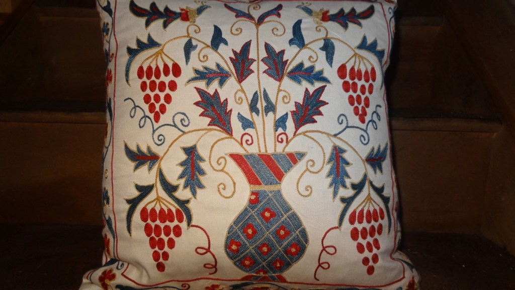 Hand stitched susani cushion