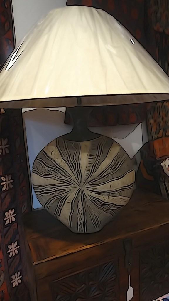 Earthenware lamp base