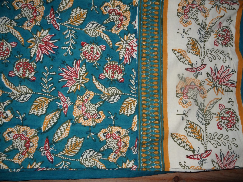 Indian block print tablecloth or bedspread