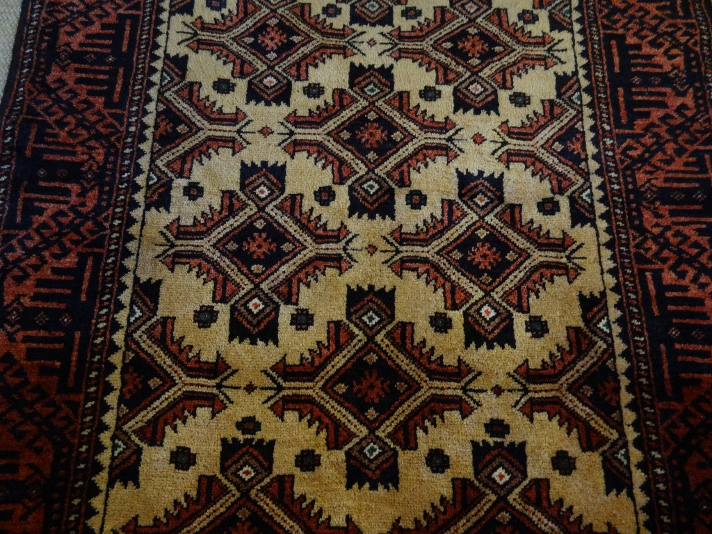 Semi-antique tribal nomadic rug from persia