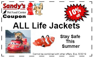 Life jacket coupon