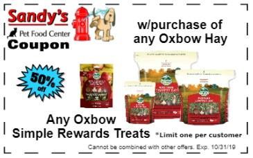 oxbow hay and treats 10-19
