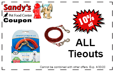All tie-outs on sale!