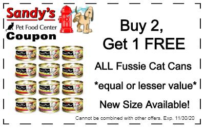 Fussie cat coupon